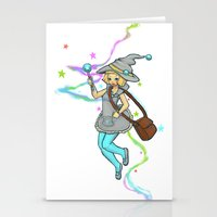 magical girl Stationery Cards featuring Magical Girl by CombatantCucumbers