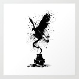 Ink Eagle Art Print