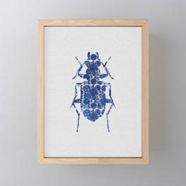 Blue Beetle II Framed Mini Art Print