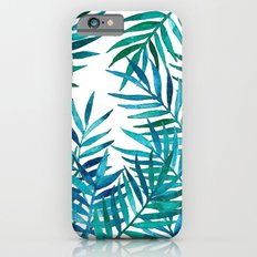 Watercolor Palm Leaves on White iPhone 6 Slim Case