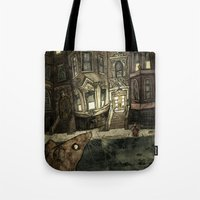 rat Tote Bags featuring Rat by Jordan Walsh