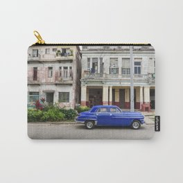 Havana Cuba Cuban Vintage Car Architecture Vedado Urban Street Photography Carry-All Pouch