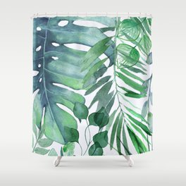 Superb Tropical Leaves Shower Curtain
