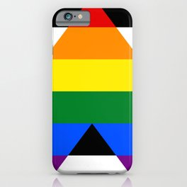 Straight Ally pride flag iPhone Case
