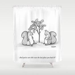 Forgetful Squirrel Shower Curtain
