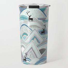 caribou mountains blue Travel Mug