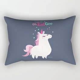 I was like Oh Em Gee - Unicorn Rectangular Pillow