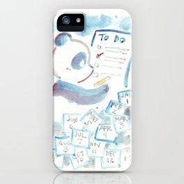 To Do List Panda iPhone Case