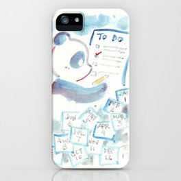 To Do List Panda iPhone Case