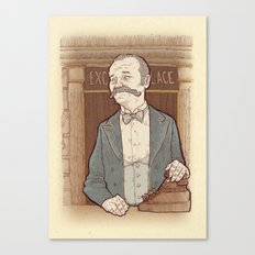 Monsieur Ivan or Bill Murray on The Grand Budapest Hotel from Wes Anderson Canvas Print