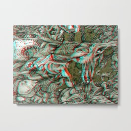 LIFE OF UNTITLED No.3 3D Anaglyph Metal Print