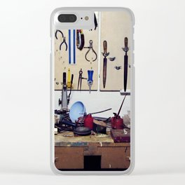 Dirty workbench Clear iPhone Case
