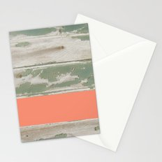 Wood Color Block Stationery Cards