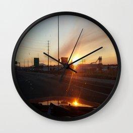 Morning Sunrise and Go Ducks! Wall Clock