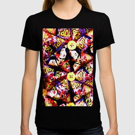 LIZ SELLEY ART ORIGAMI POP ART DESIGN T-shirt