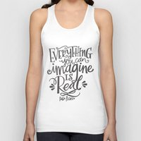 imagine Tank Tops featuring IMAGINE by Matthew Taylor Wilson