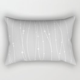 Grey Pattern With Lines And Dots Rectangular Pillow