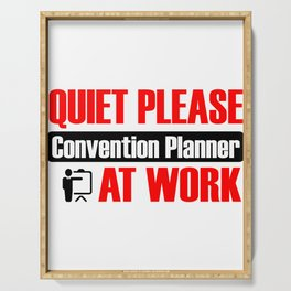 Quiet Please Convention Planner At Work Serving Tray