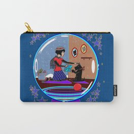 Snow Globe of Girl with Scotty Dog Carry-All Pouch