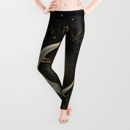 The sun and the moon with stars Leggings