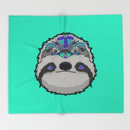Sloth Thoughts Throw Blanket