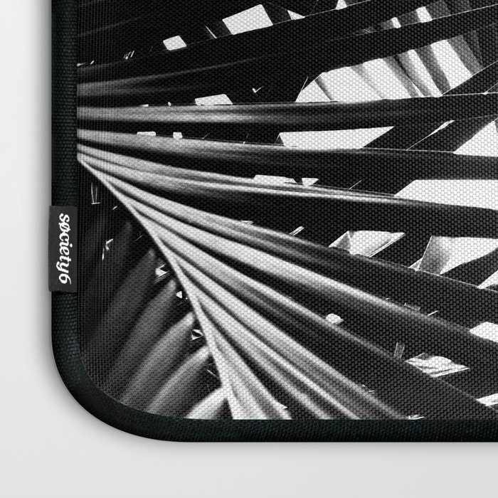 Palm Leaves Black & White Vibes #3 #tropical #decor #art #society6 Laptop Sleeve