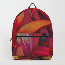 """Retro Giant Floral Pattern"" Backpack"