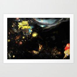 Red War Planet Art Print