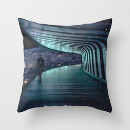 The Space Station-Earth in the Distance Throw Pillow