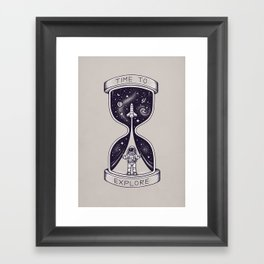 Time To Explore Framed Art Print