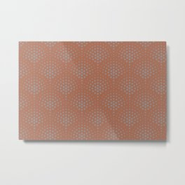 Slate Violet Gray SW9155 Polka Dot Scallop Fan Pattern on Cavern Clay SW 7701 Metal Print