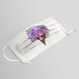 Sugar skull ice cream, series 2, purple and pink Face Mask