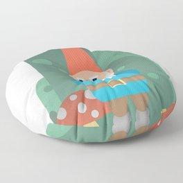 Gnome with Mushroom Floor Pillow