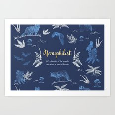 Nemophilist Art Print