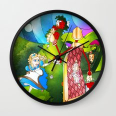 Paint The Roses Red Wall Clock