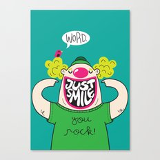 Just Smile Canvas Print