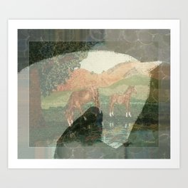 """Horses"" Art Print"