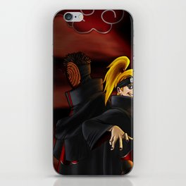 tobi  and deidara iPhone Skin