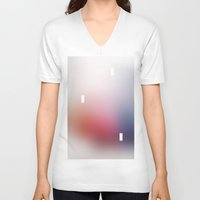 blur V-neck T-shirts featuring Blur by Peter Bakonyi