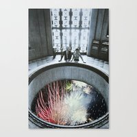 fireworks Canvas Prints featuring Fireworks by John Turck