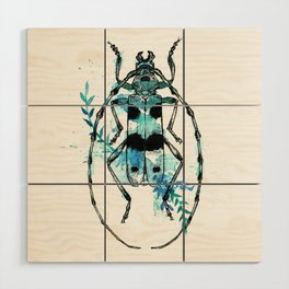 Turquoise Beetle Wood Wall Art