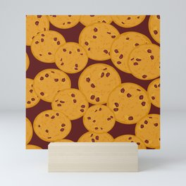 Chocolate chip cookie Mini Art Print