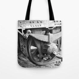Old train wheel Tote Bag