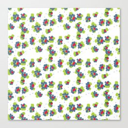 naive flowers pattern Canvas Print