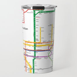 New York City subway map Travel Mug