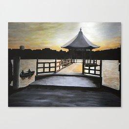 Fukuoka Sunset Canvas Print