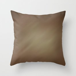 Abstract Watercolor Gradient Blend 2 Earthy Brown Tones Throw Pillow