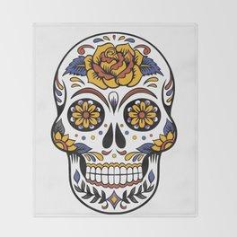 Halloween Candy Skull Throw Blanket