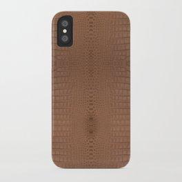 Brown Alligator Print iPhone Case