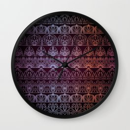 Floral luxury royal antique pattern Wall Clock